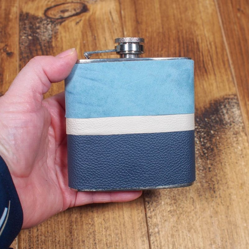 How To Make A Diy Leather Wrapped Hip Flask In 2020 Leather Diy Flask Diy Hip Flask