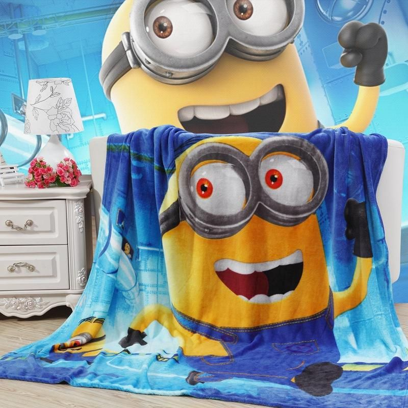 Home Textile Cartoon Minions Blanket for Kids Spiderman