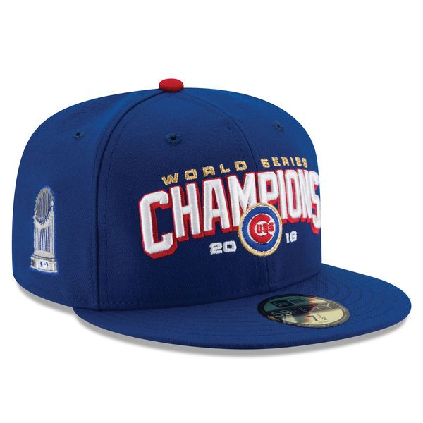 154d7fcc11b Men s Chicago Cubs New Era Royal 2016 World Series Champions 59FIFTY Fitted  Hat