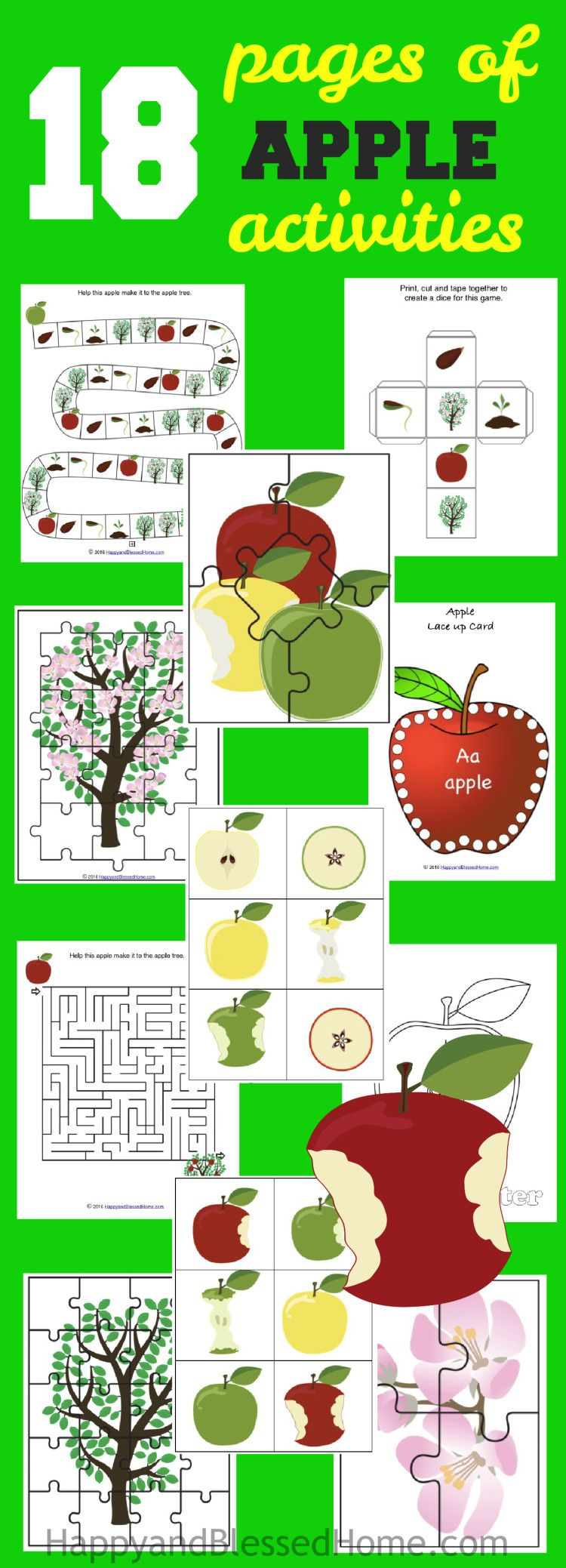 Delicious Apple Recipes | Apple activities, Free worksheets and Game ...