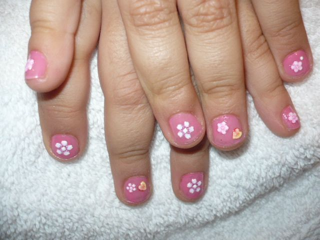 Little Girl Nails Kyra Pinterest Girls Nails Girls And Kid Nails