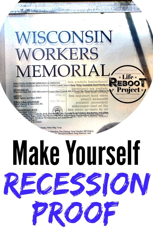 Make Yourself Recession Proof Proof Make More Money Recess