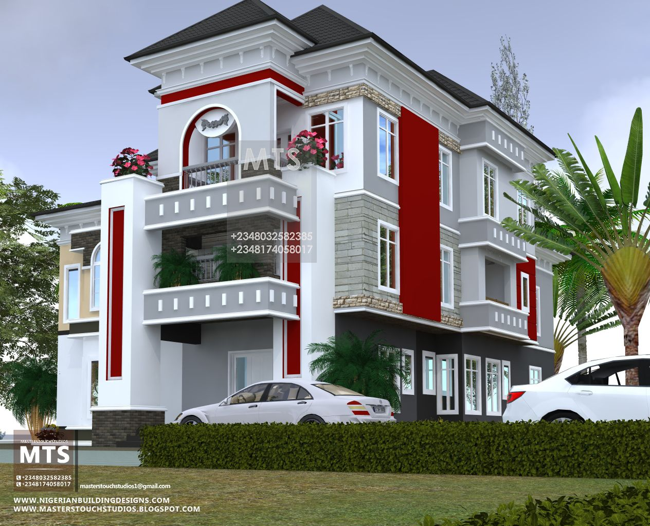6 Bedroom Beautiful Duplex With Pent Floor House Plans Mansion House Plan Gallery House Styles