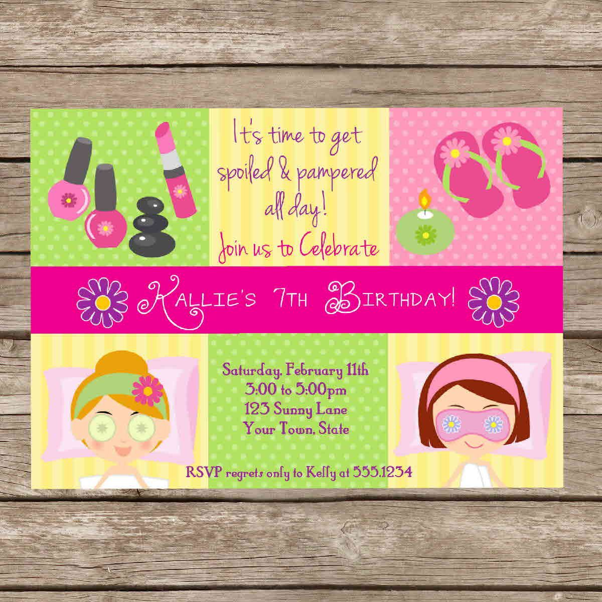 Free Printable Pamper Party Invitations | Children Biz | Pinterest ...