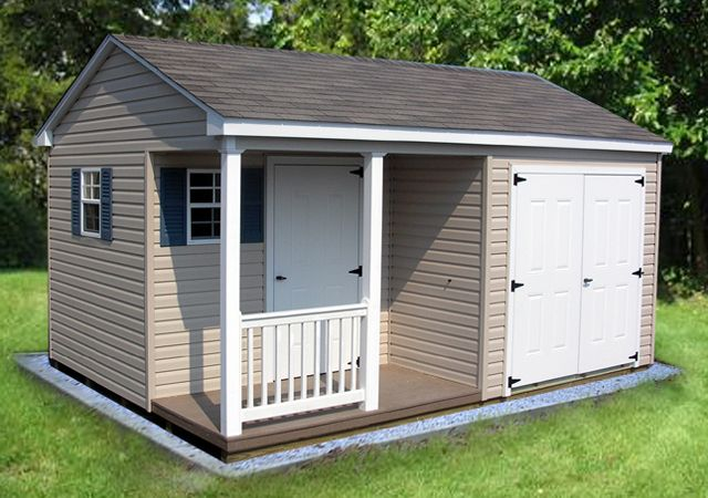 10 X 16 A Frame Shed With Porch Shed Shed Storage Shed With Porch