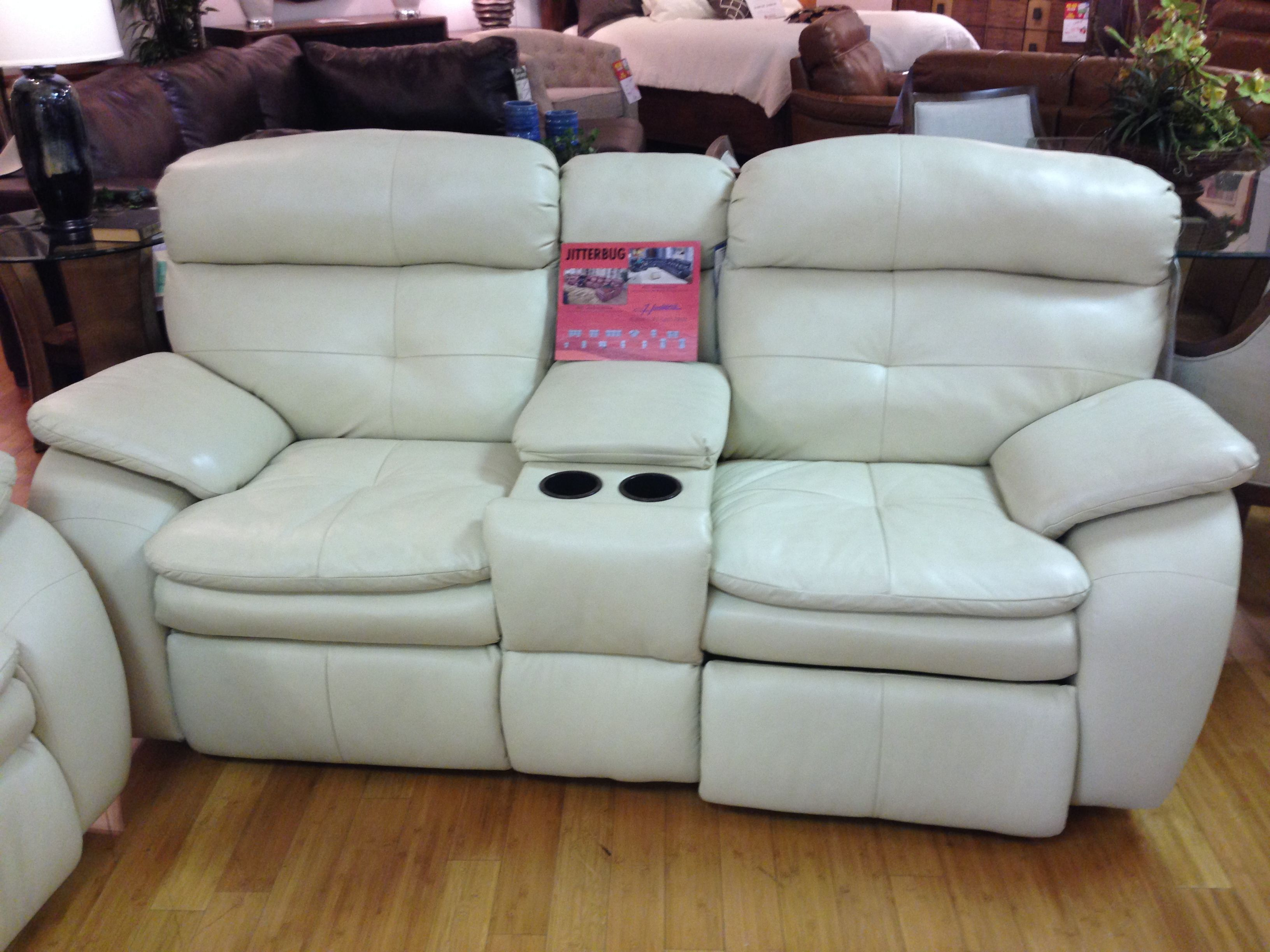Leather Love seat with Console by Southern Motion Love