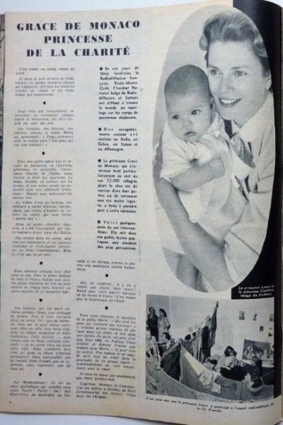 Grace and Caroline featured in a magazine article.