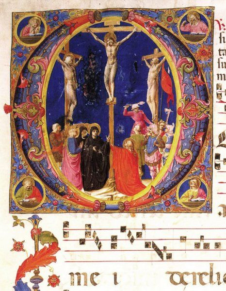 BEATO ANGELICO -  Antifonario - miniatura - c. 1419-1423 - Biblioteca Medicea Laurenziana, Firenze
