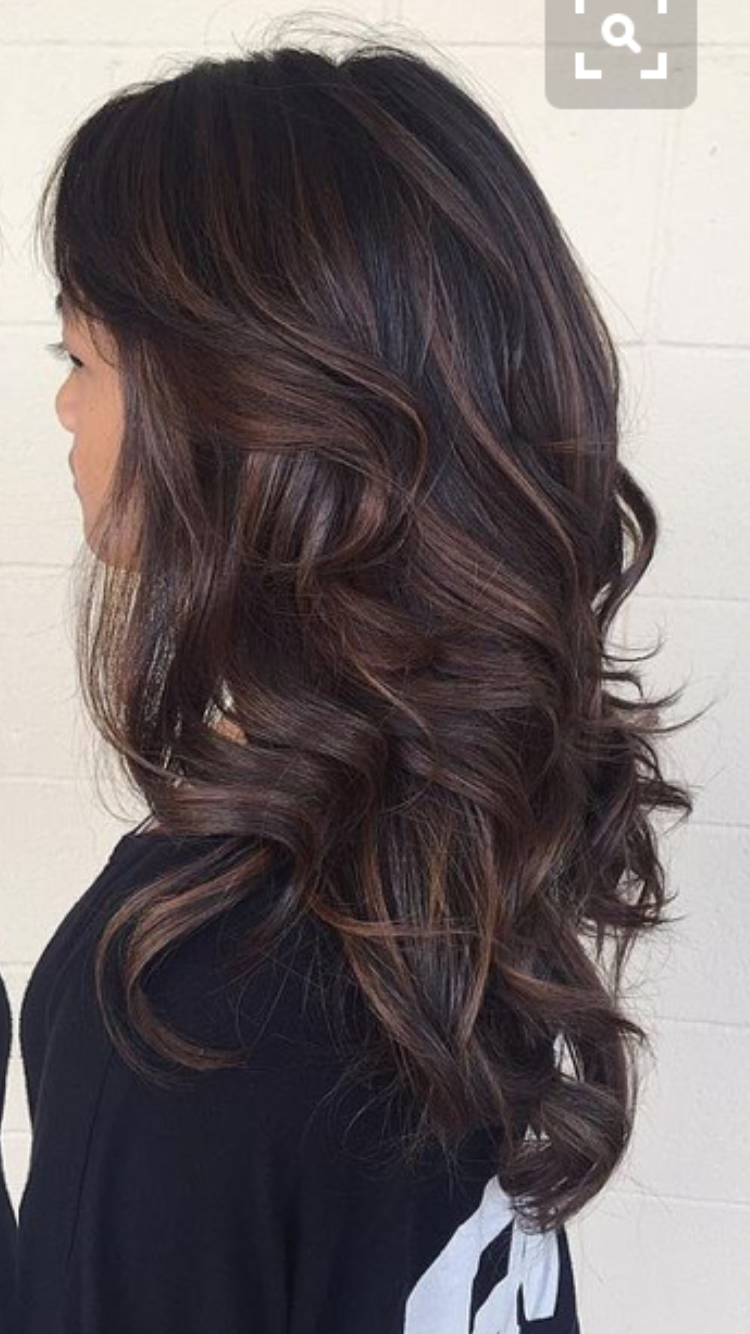 Espresso And Mocha Dark Brown Hair Balayage Brown Hair Balayage Brunette Hair Color