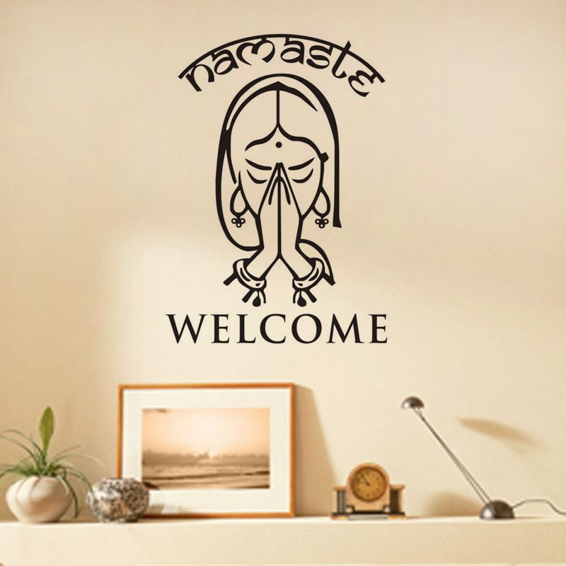 Welcome Namaste Wall Decals Vinyl Art Wall Stickers Home Decor - Yoga studio wall decals