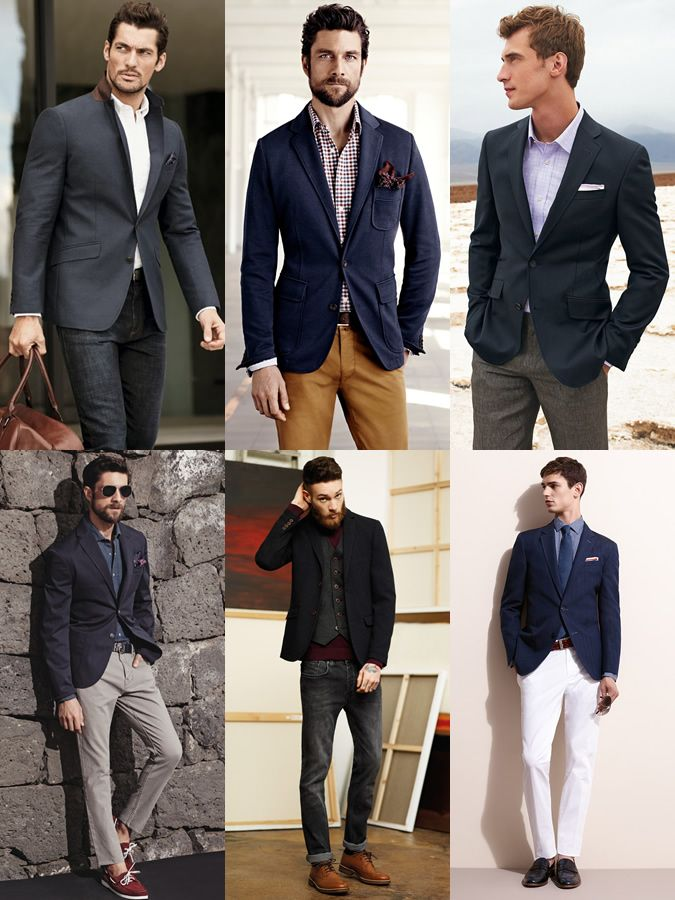 Images of Mens Navy Blazer - Reikian