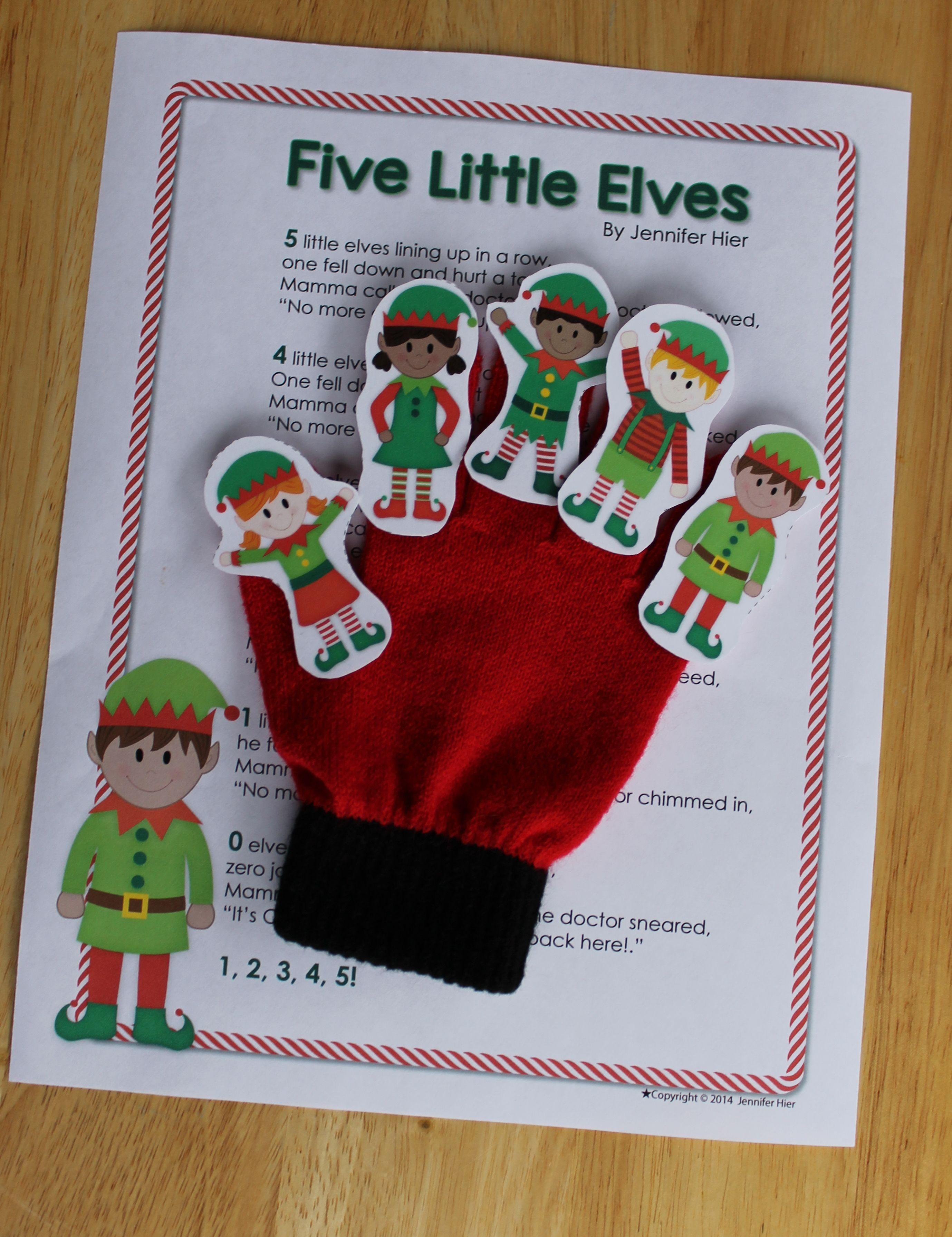 Elf Activities   Elf Interactive Counting Book and Finger Play Poem ...