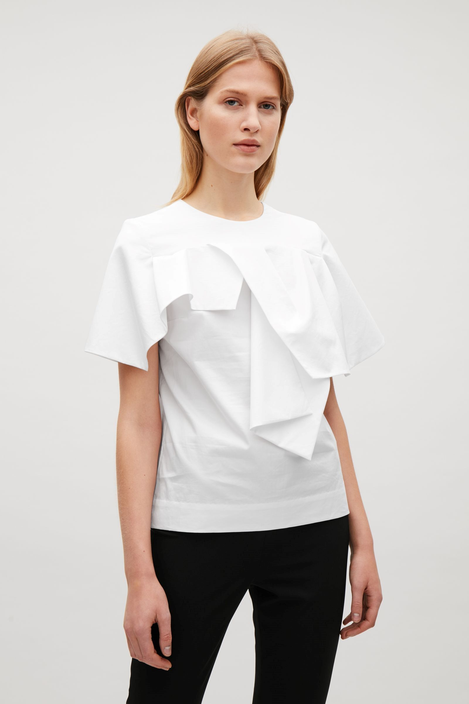 Top Of In Pinterest White Cloth Cos Draped 2 Image With Sleeves CqS47fw