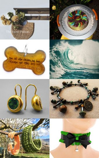 GREEN AND ORANGE by Elena L. on Etsy--Pinned with TreasuryPin.com