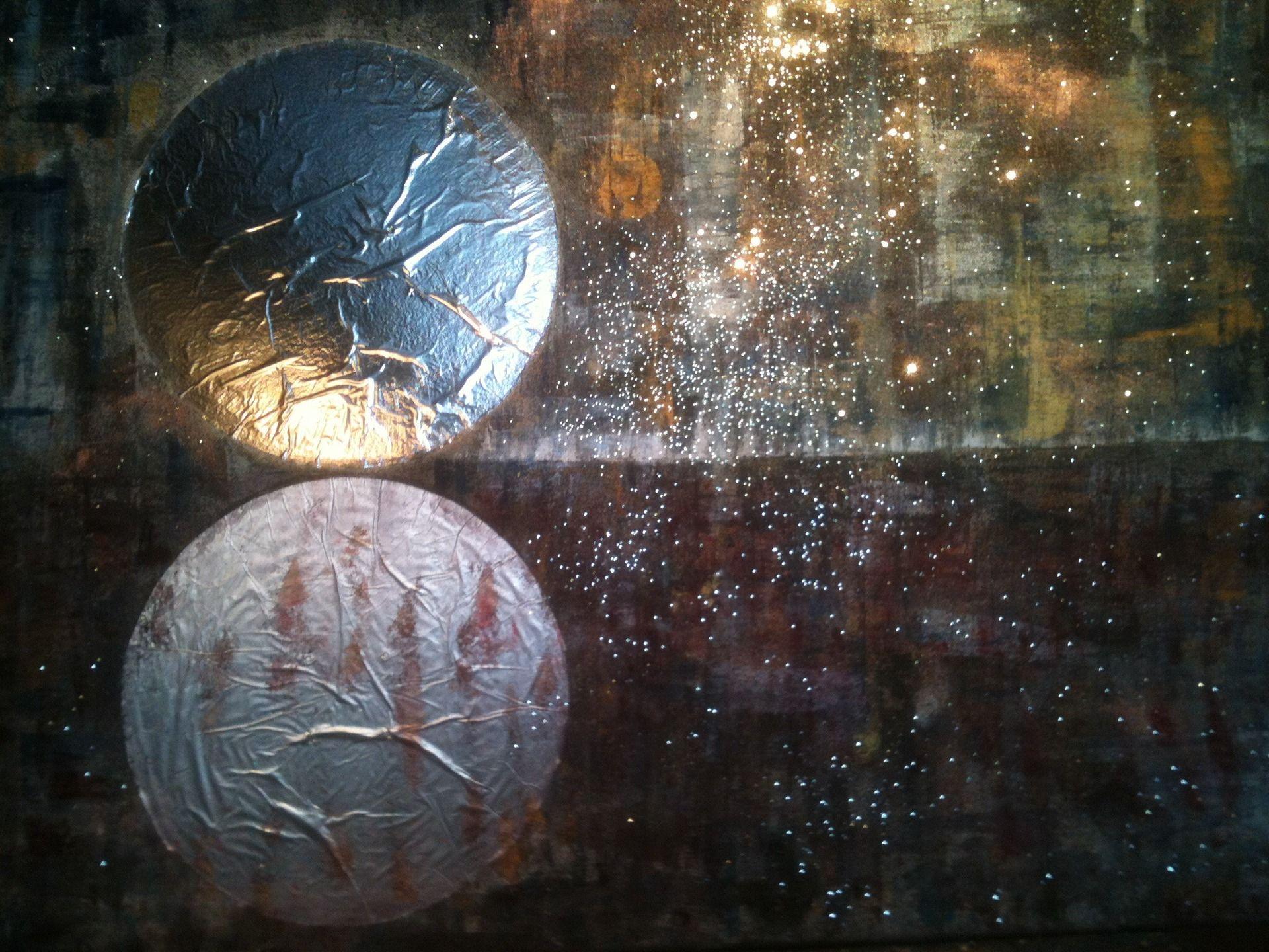 Art abstrait contemporain - Peinture à l'huile et au couteau. Technique mixte Toile tendue sur châssis 92x73cm Œuvre unique : Peintures par wilcox-peintures