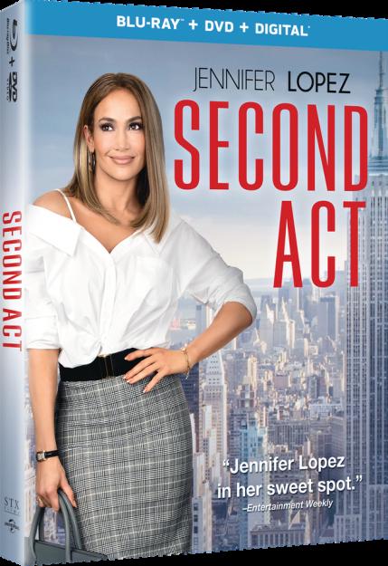 Second Act Blu Ray Combo Pack Giveaway 3 24 Lynchburg Mama Jennifer Lopez Blu Ray Blu Ray Movies