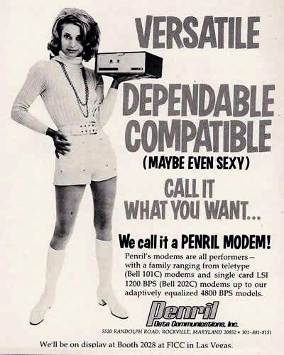Penril modems.