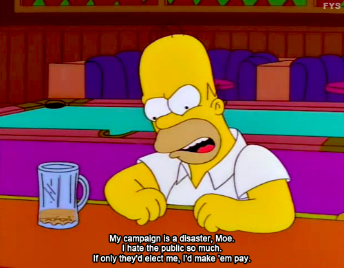 The Simpsons I M Pretty Sure Some Current Politicians Feel The Same Way Simpsons Quotes The Simpsons Homer Simpson