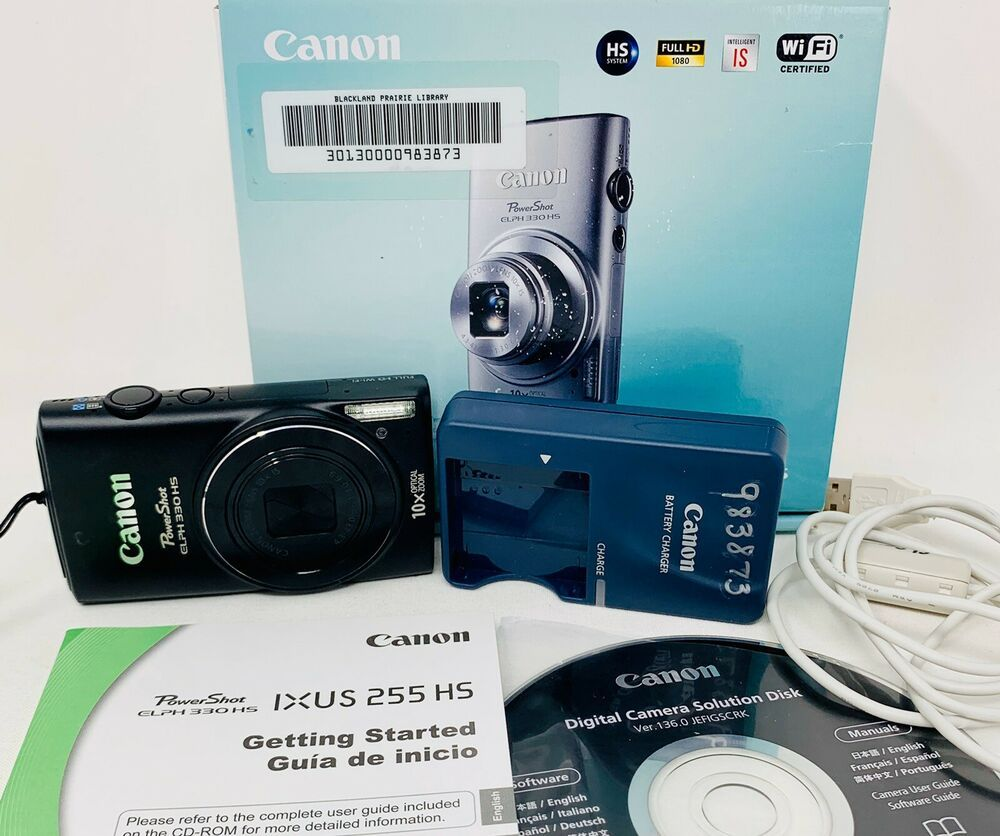 Canon Powershot Elph 330 Hs 12 1mp Digital Camera Black 983873 Photo Photography Canon In 2020 Digital Camera Canon Powershot Elph Camera