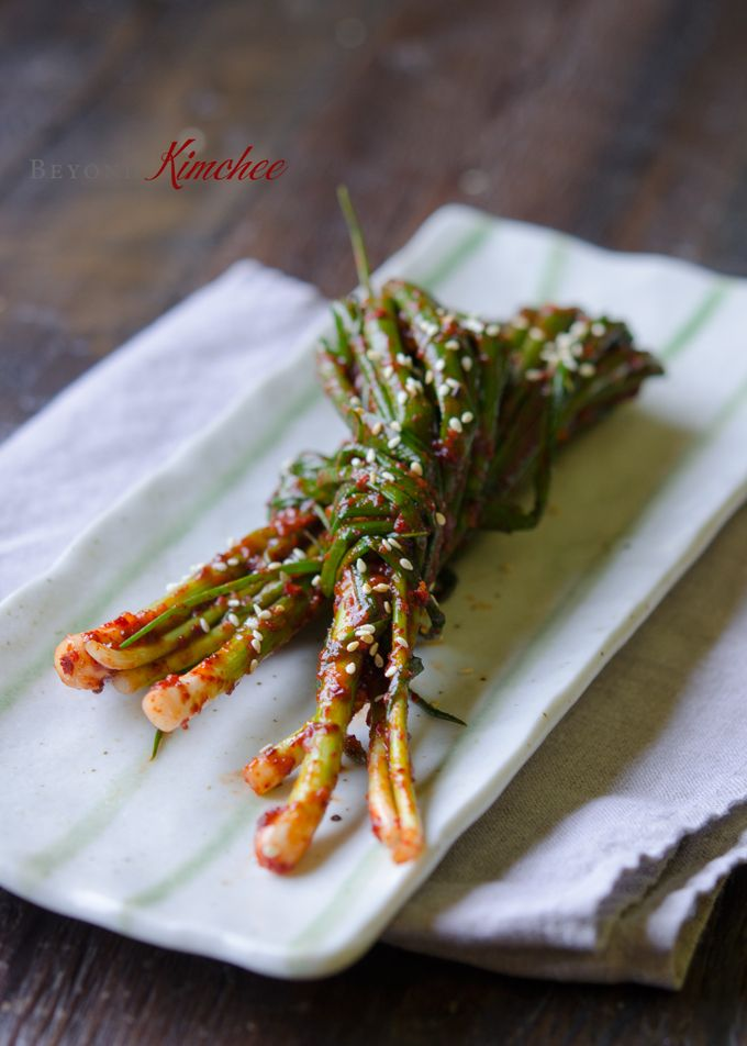 Green Onion Kimchi - Korean recipes   Korean Food   Korean ...
