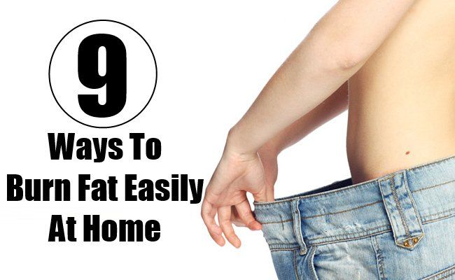 ways to burn fat fast at home