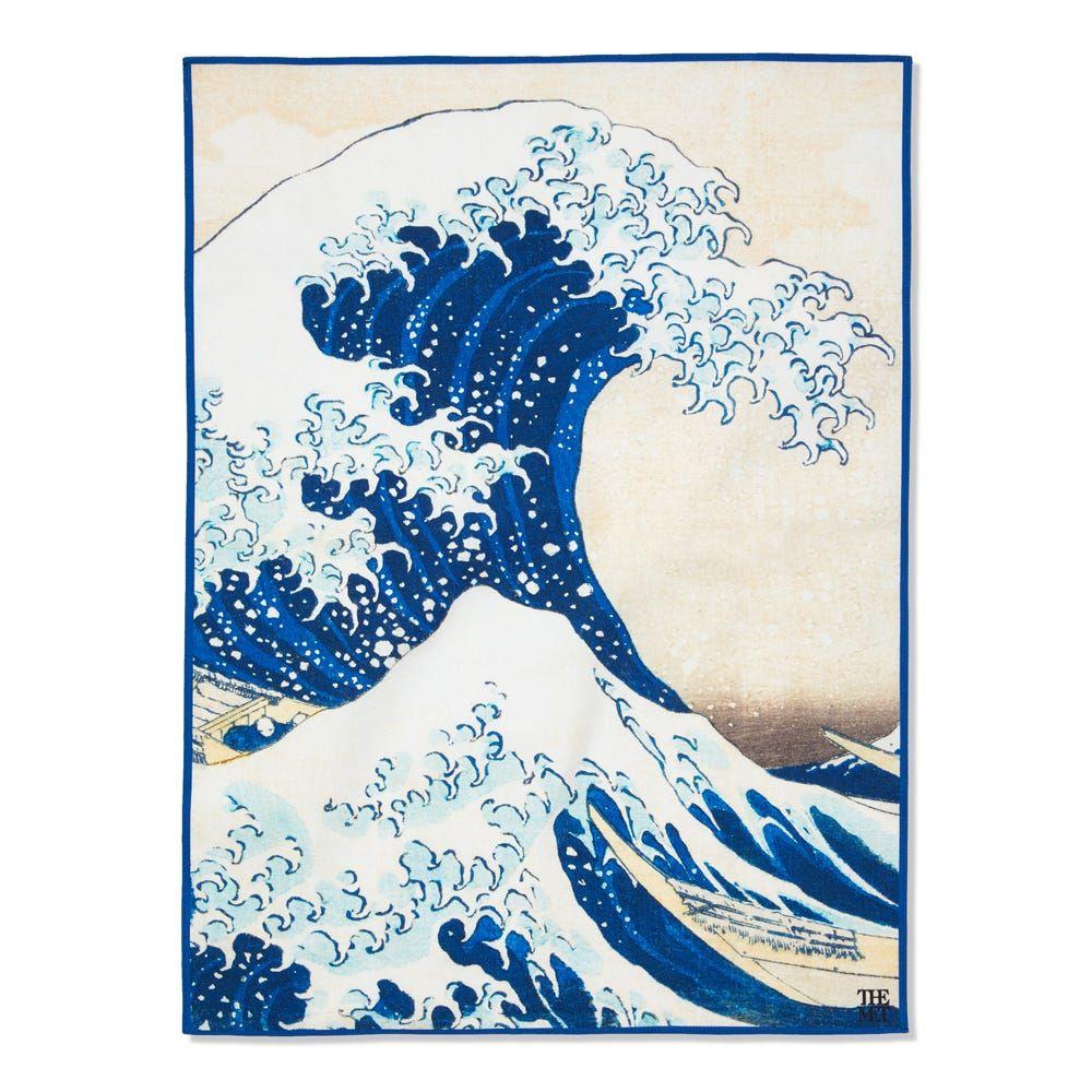 Hokusai Great Wave Tea Towel Japanese Art Artwork Hokusai Great Wave