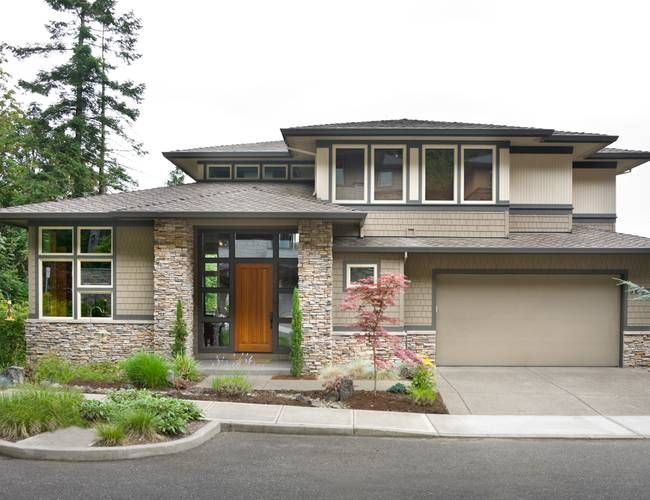 A Top Favorite... Modern Prairie Style Designed For Sloping Lot. Like. One  Level House PlansA ...
