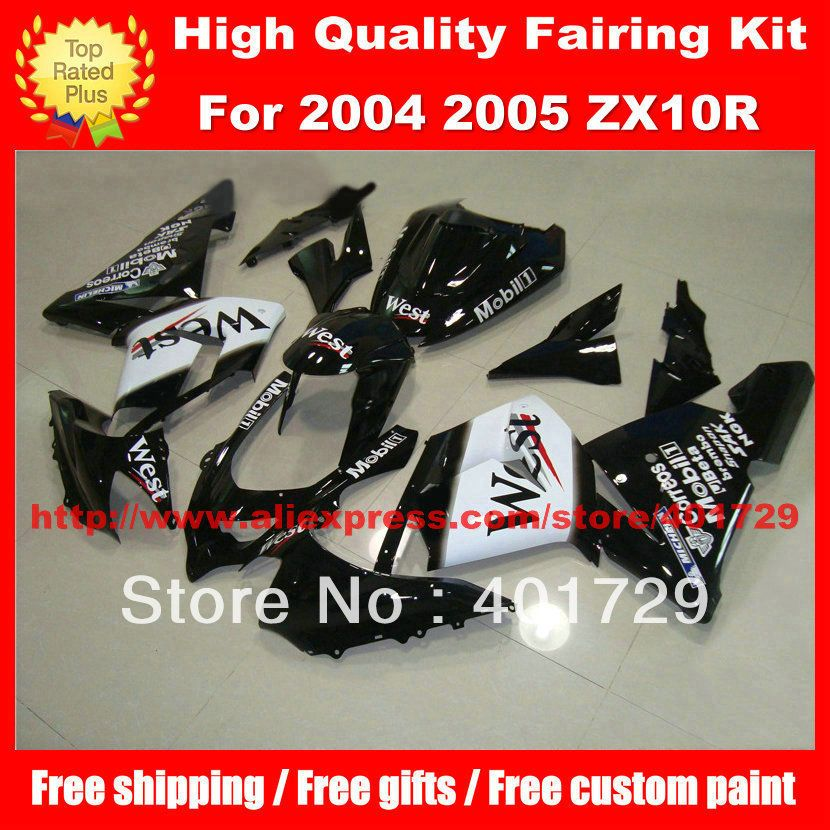 Custom racing fairing kit for 2004 2005 ZX 10R 04 05 ZX10R