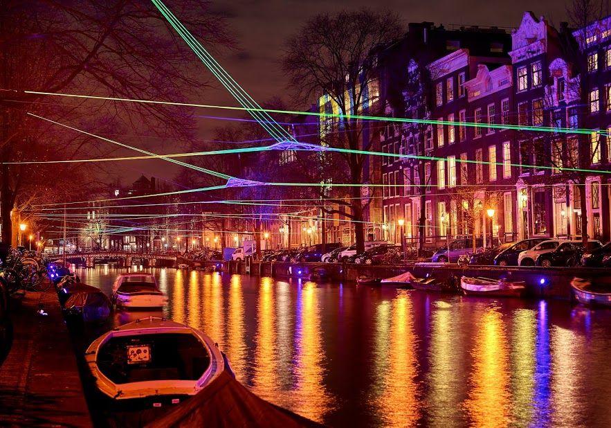 #Amsterdam Light Festival. Tom Dekyvere, Polygonum (2015) © Frank Karssing