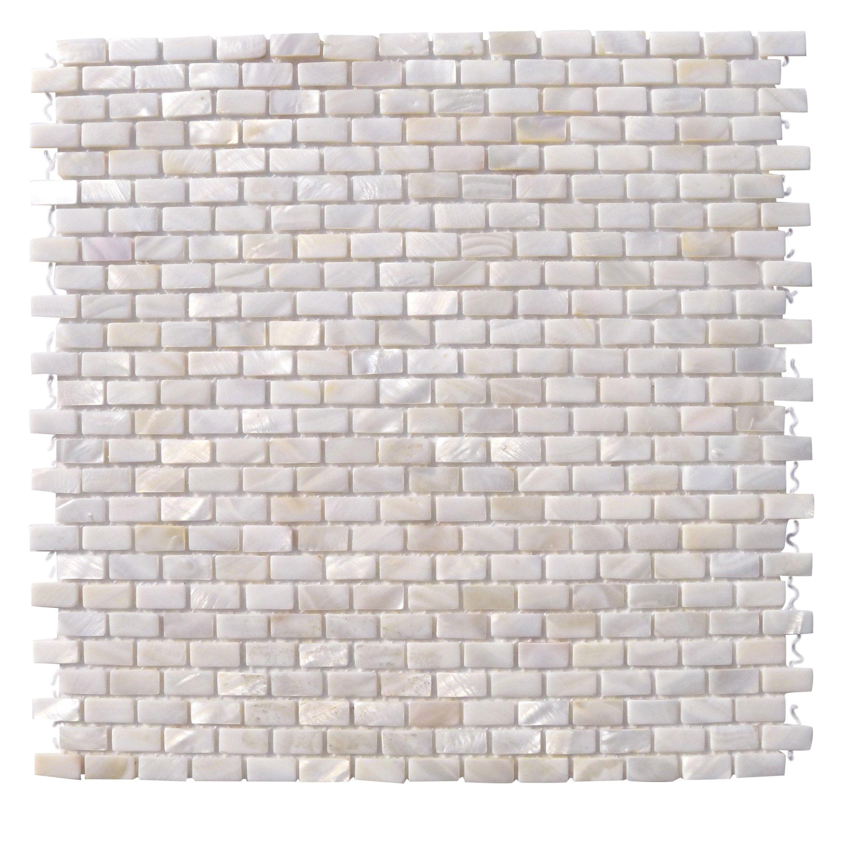 mini brick oyster white pearl tile mini brick pattern 16. Black Bedroom Furniture Sets. Home Design Ideas
