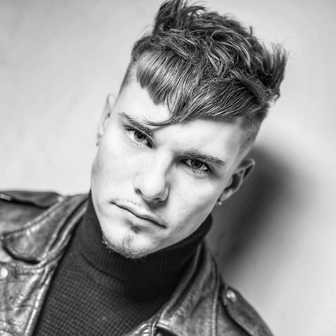 Cool messy spiky crop haircut by barber mikey menshaircuts