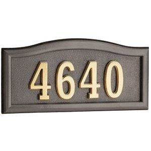 Gaines Address Plaques Bronze With Brass Softcurve Address Plaques By Gaines Manufacturing 109 00 Gaines Address Plaques Bron With Images Address Plaque Plaque Bronze