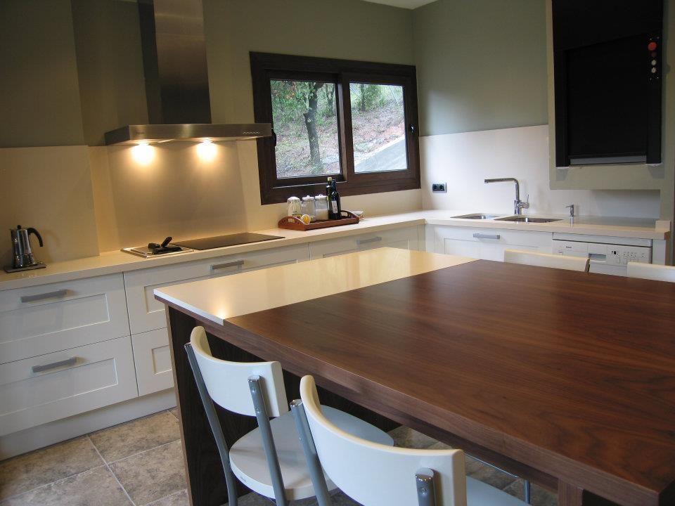 Dise o de cocina de punt de vista terrassa con campana for Campanas de cocina de diseno
