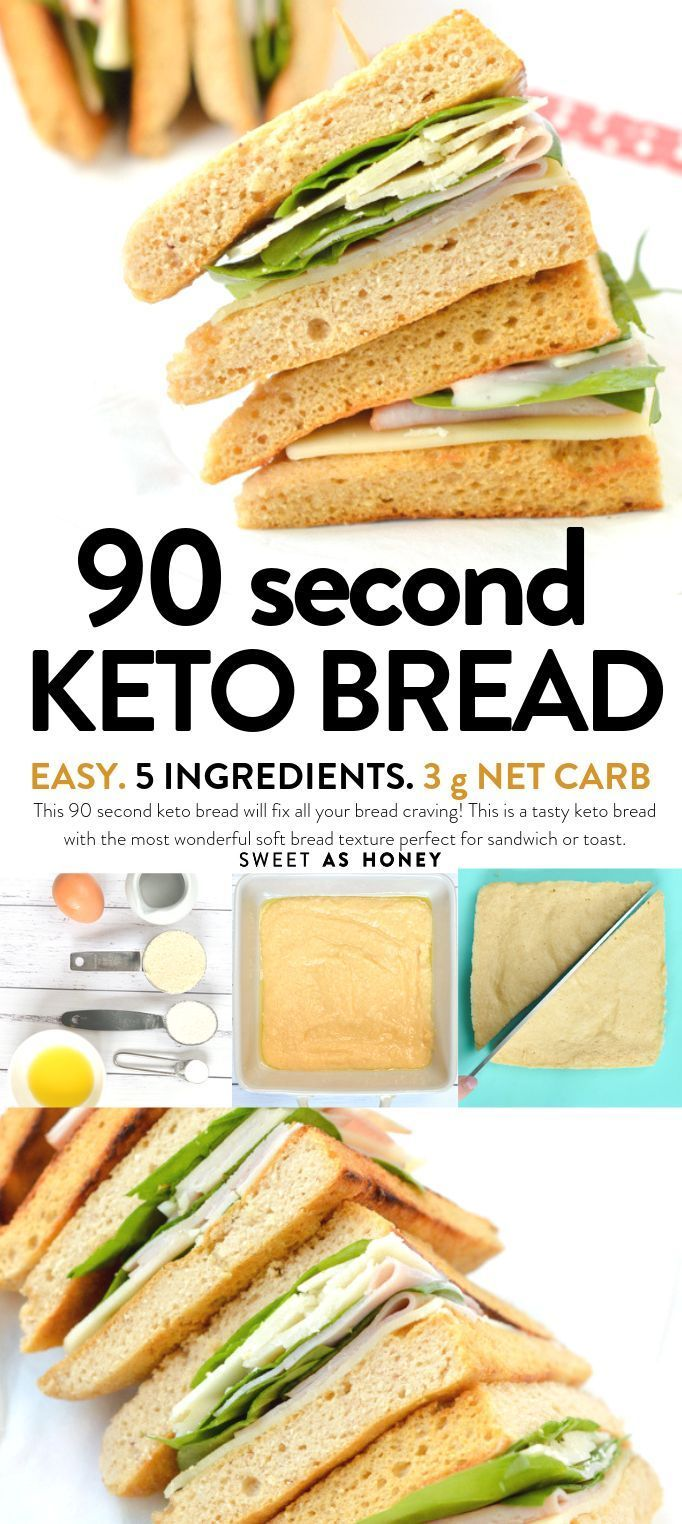Ce pain céto de 90 secondes comblera toutes vos envies de pain! C'est un céto savoureux ...,  #c39es...