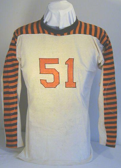 Late 1920 S Striped Football Jersey Sports Memorabilia Museum Football Jerseys Sports Uniforms Vintage Football