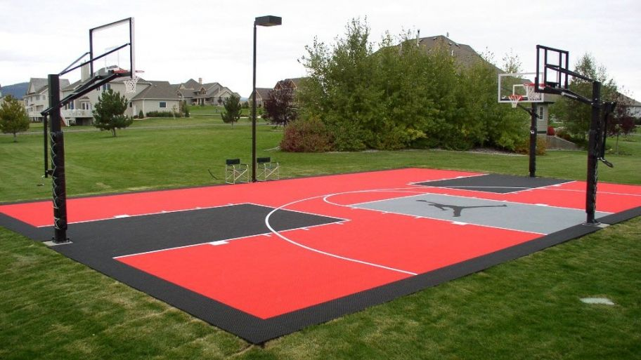 half basketball court cost