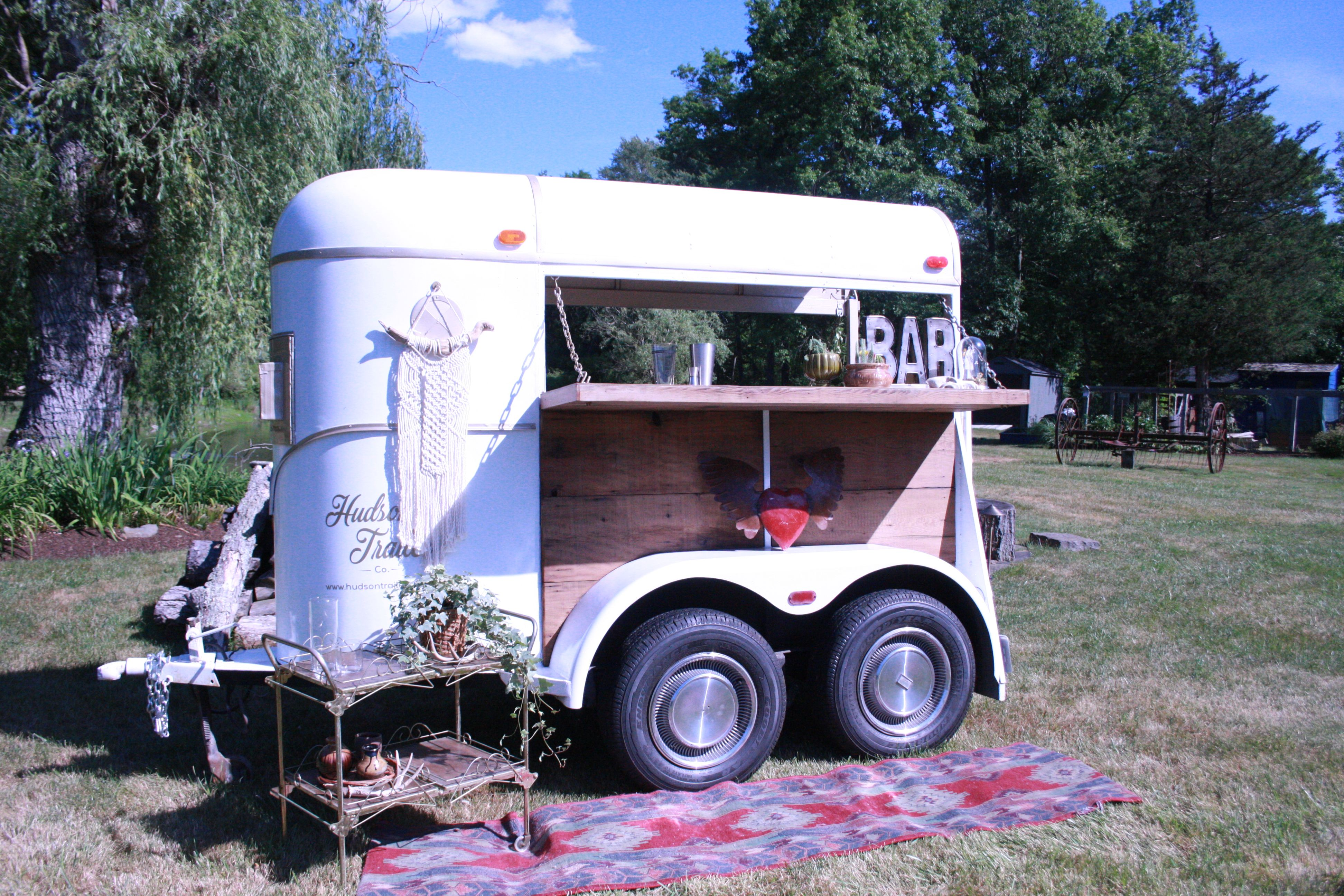 hight resolution of hudson trailer co camper bar trailer wedding trailer