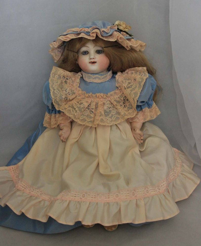 Antique Jules Steiner Kicking Bébé Gigoteur French Mechanical Doll 17""