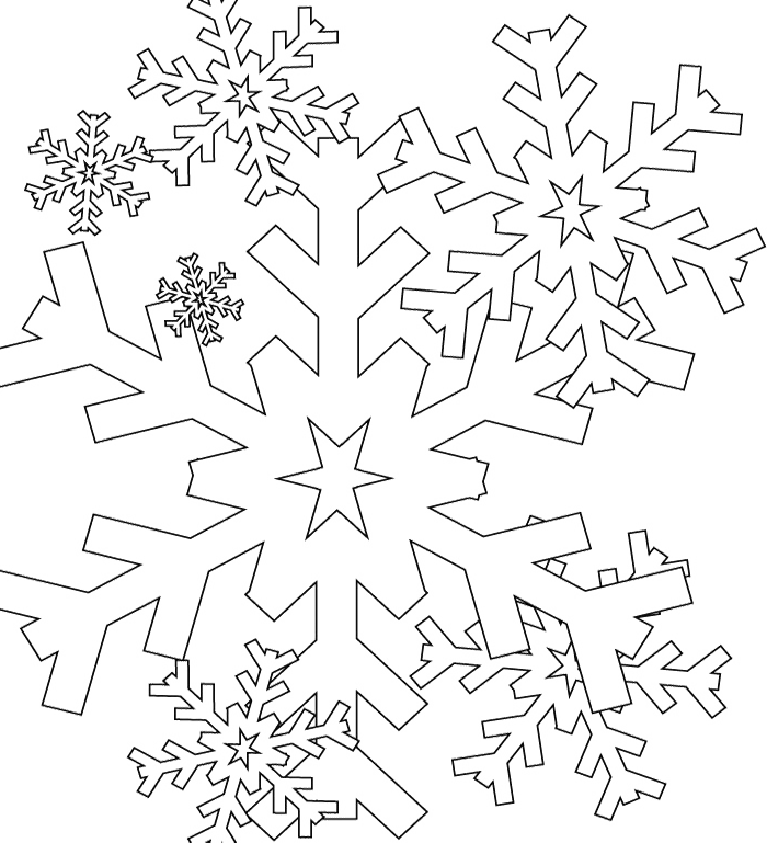 i have download cool and nice snowflake coloring page