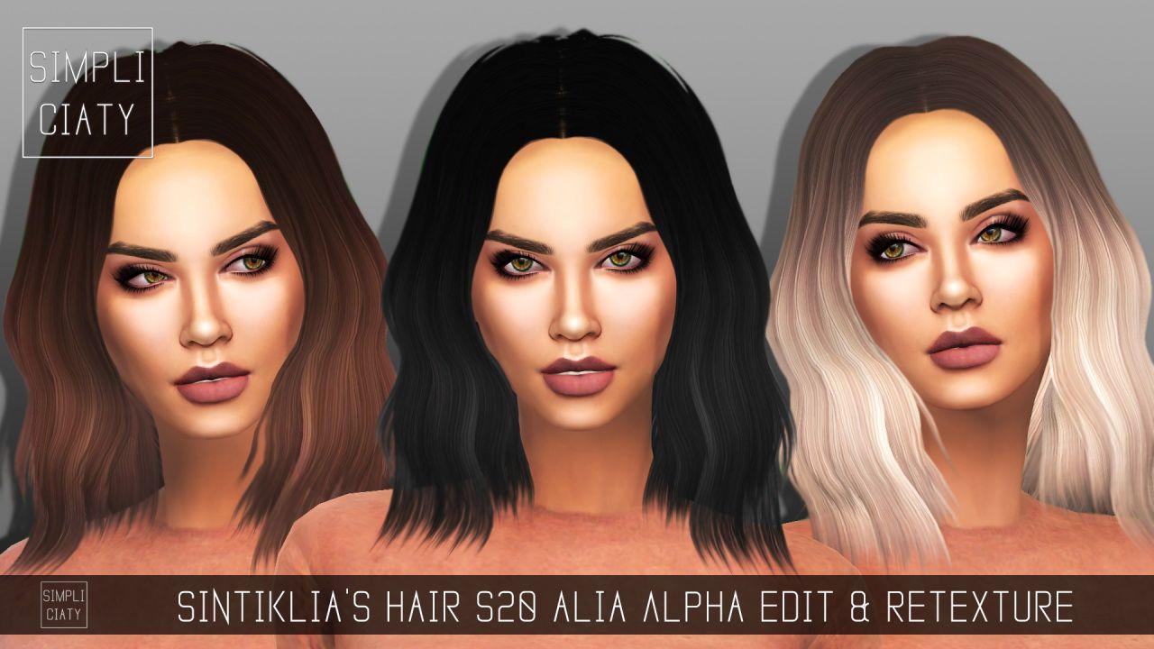 Simpliciaty Sintiklias 20 Alia Hair Retextured Sims 4 Hair