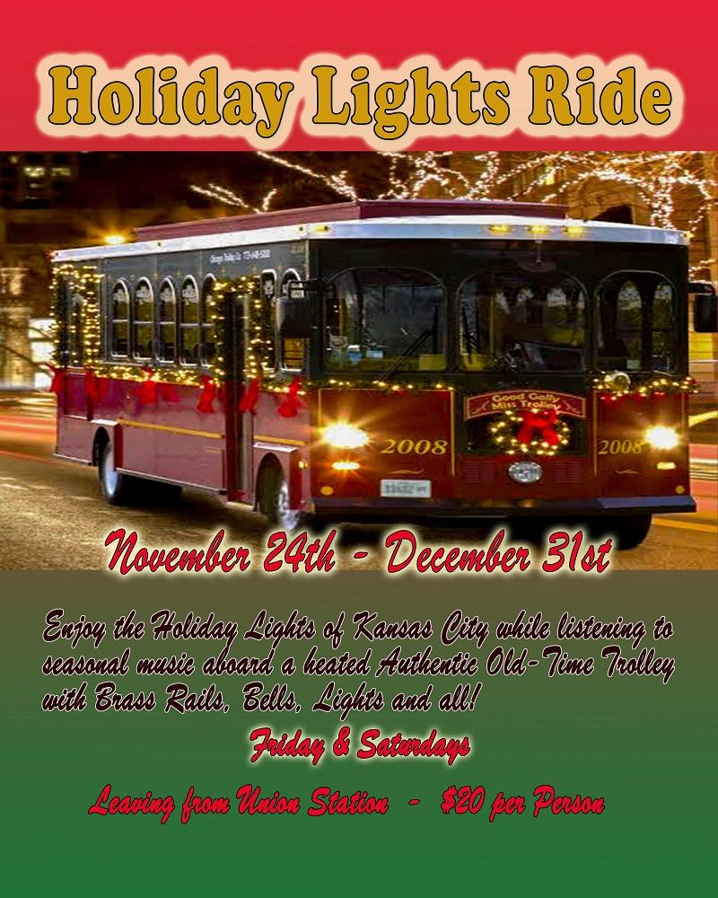 Holiday Lights Ride Kansas City Fun Tours 30 West Pershing