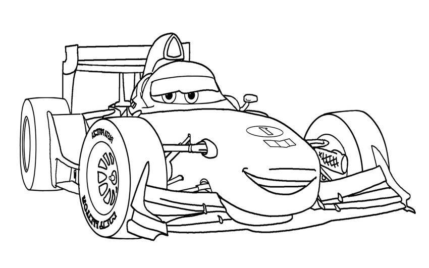 Formula 1 Cars The Movie Coloring Pages