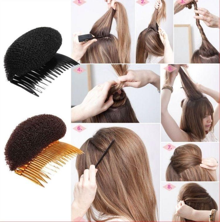 Party Frisuren Haarkissen Volumen Haareinsaetze Idee Selber Machen Haarkissen Frisuren Frisuren Selber Machen