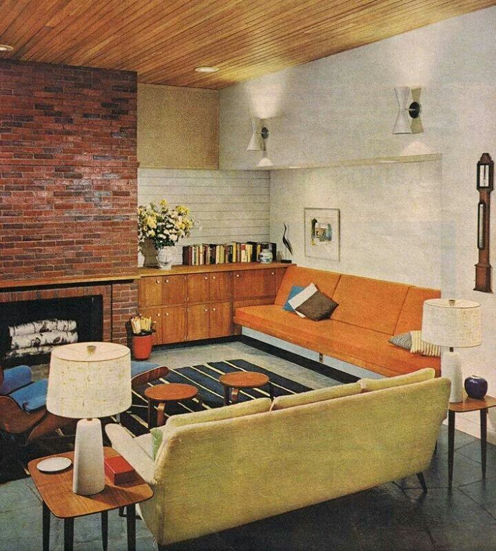 Better Homes And Gardens 1962 Mid Century Modern House Mid Century Modern Living Mid Century Modern Living Room