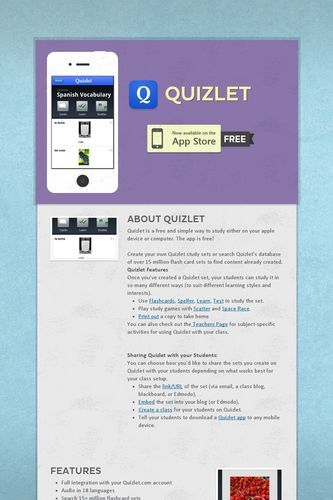 Quizlet is used in our US History class as vocabulary activities, or - spreadsheet definition quizlet