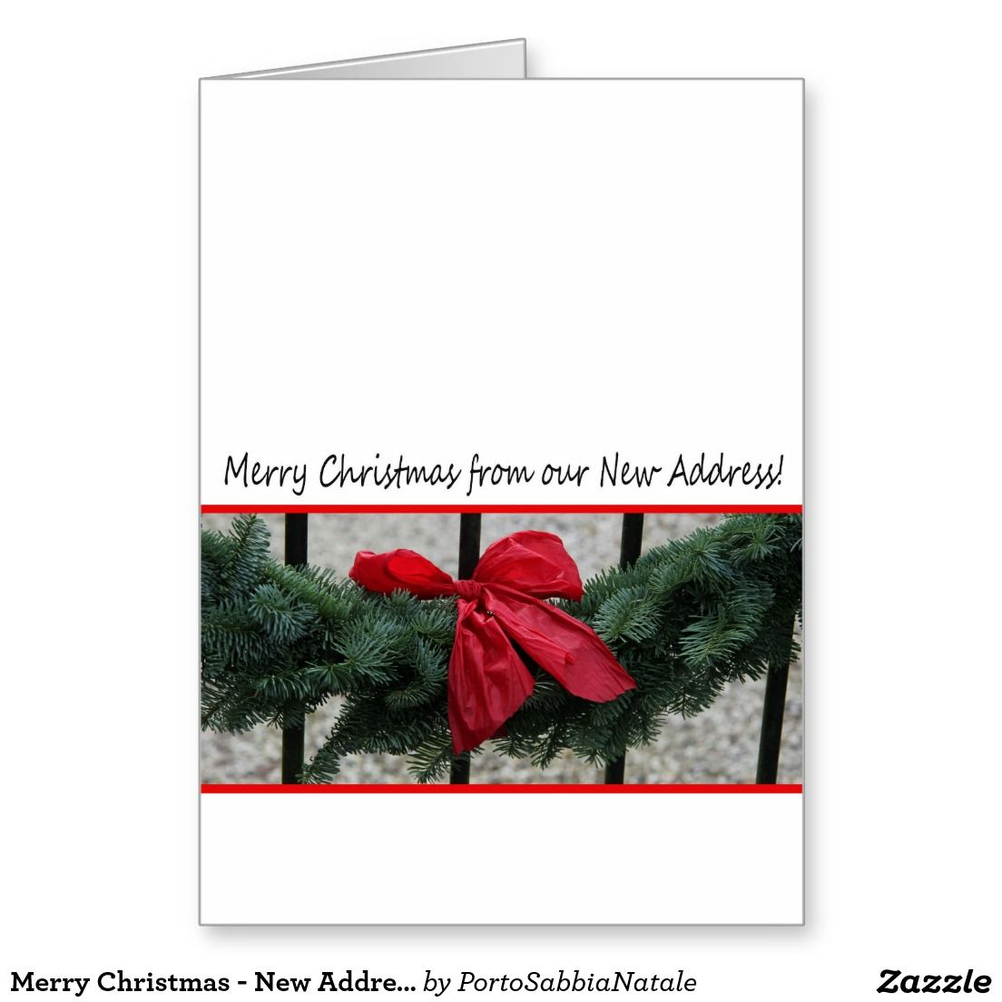 merry christmas new address christmas card