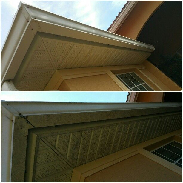 Soffit Fascia And Gutters Included W Every Roof Cleaning For Free Roof Cleaning Gutters Stairs