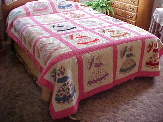 Reduced Antique Vintage 1940 S Hand Quilted Southern