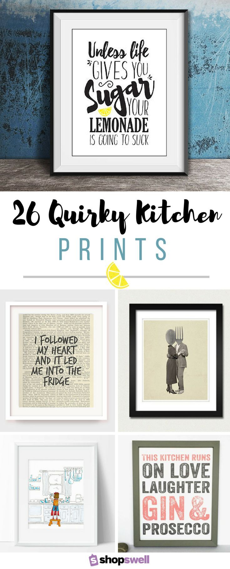 quirky kitchen wall decor
