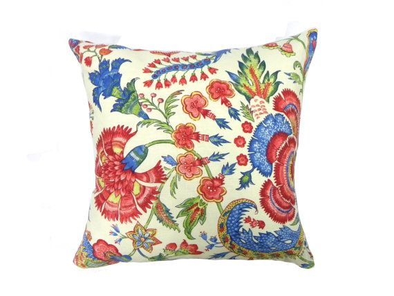 Paisley Print Graphic Pillow Cover